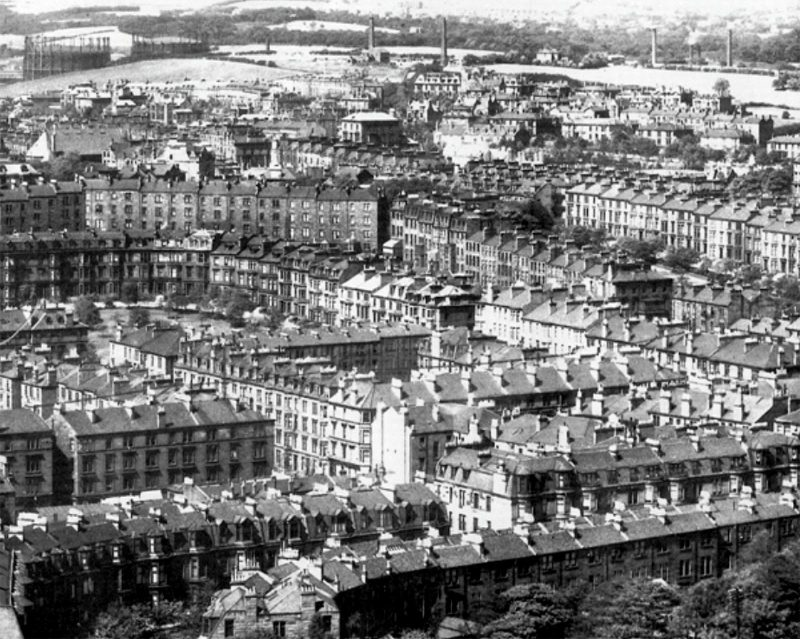 View of the tenements of the west end from Glasgow University Bell Tower taken by T & R Annan July 1905
