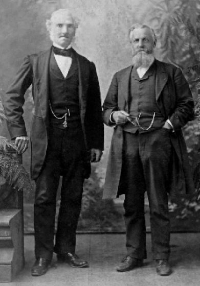 James Ferguson and James Urie in 1887, Melbourne