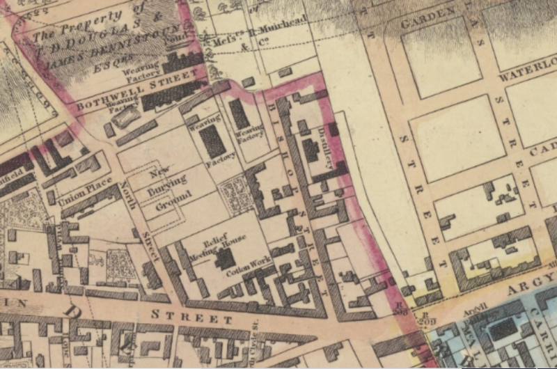 Map of Burial Ground, North St- 1828