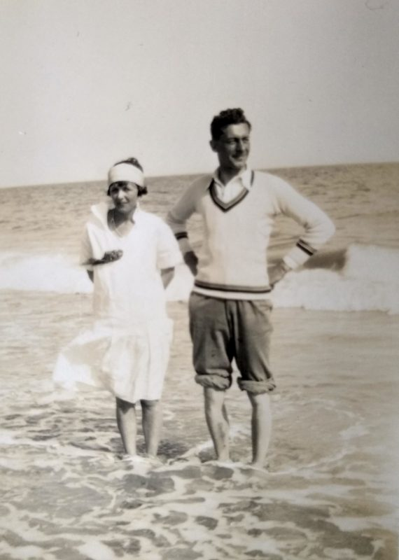 Reginald and Gladys at the seaside